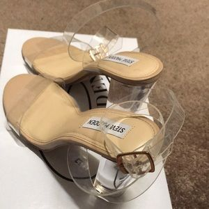 56a754ee31a Steve Madden Shoes - Steve Madden Camille Clear